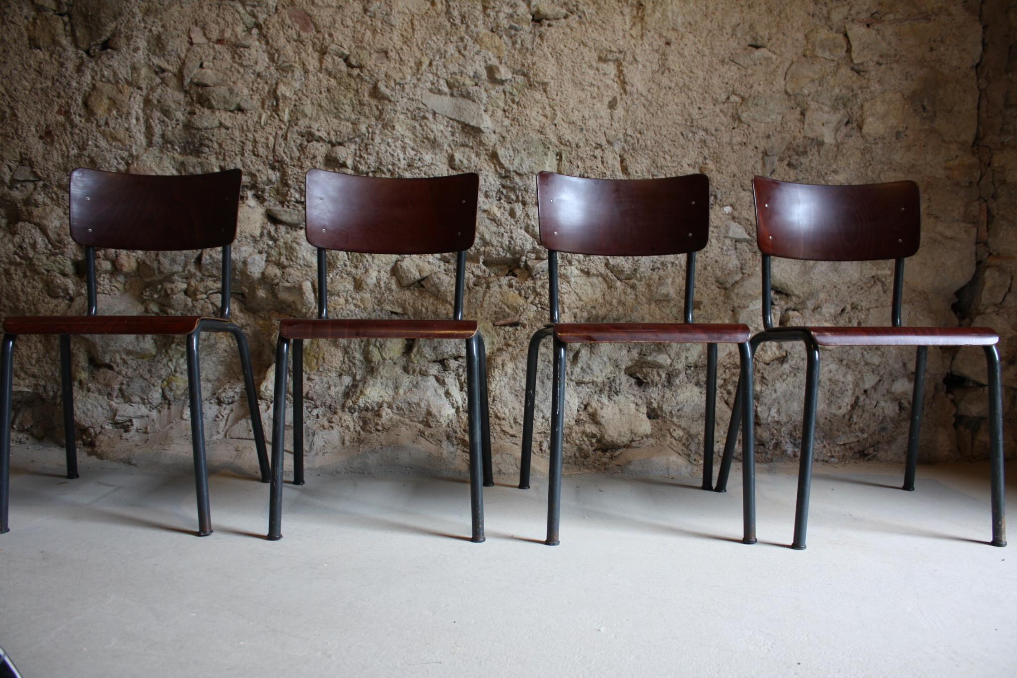 Stühle Holz Stahlrohr Vintage Loft (2)