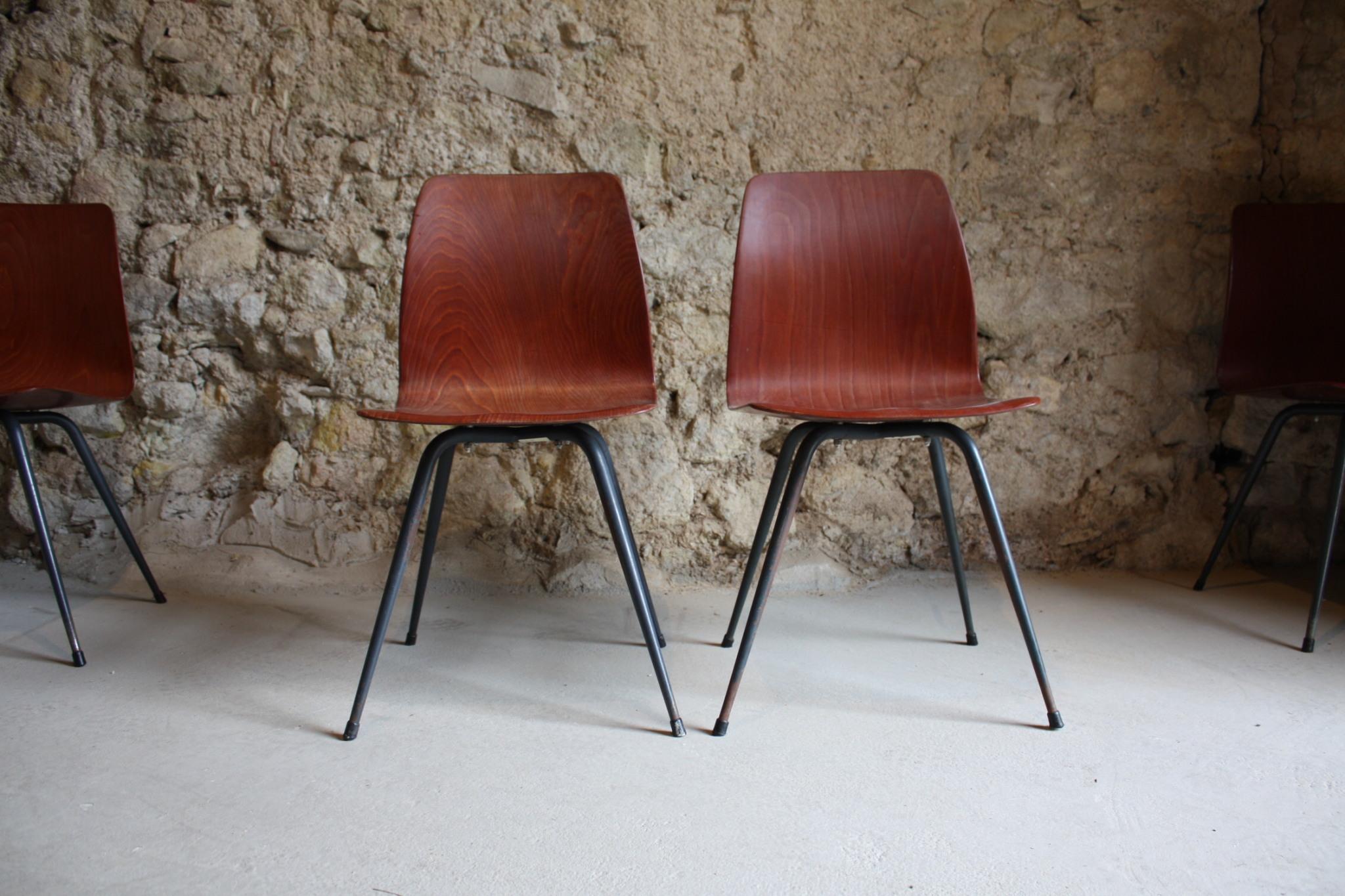 Stühle Stahlrohr Vintage Loft Mid Century (6)