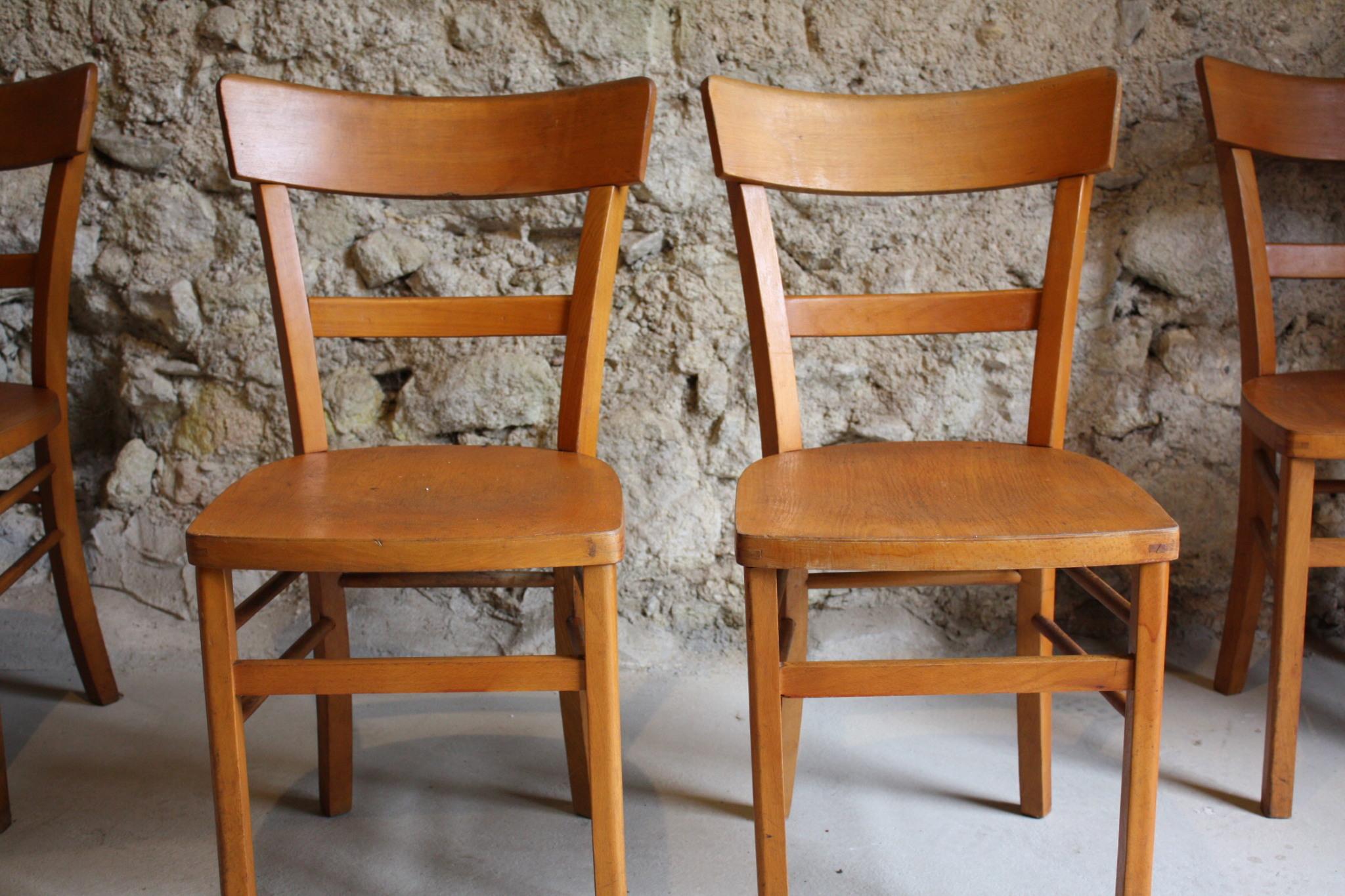 Holzstühle aus Buche Gastro Cafe Frankfurter 1 v 4