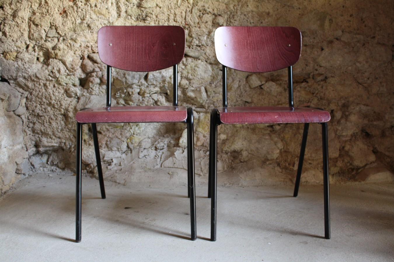 Schulstuhl stapelstuhl stahlrohr und holz 1 v 10 for Stuhl design schule