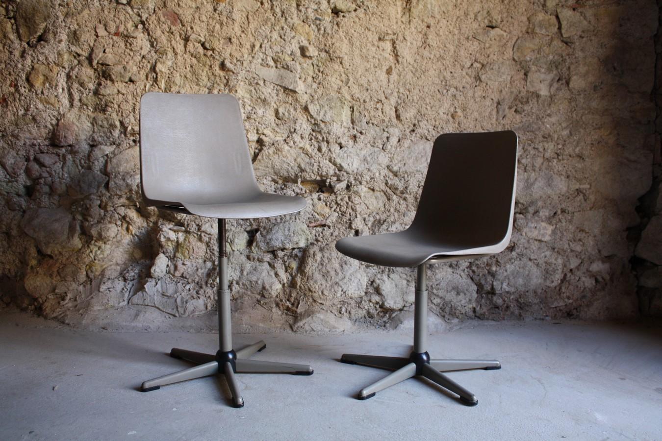 Architekten Designer Stühle Stuhl gebraucht Vintage Antik Loft Plastik Höhe (27) a