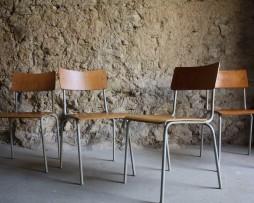 Industrie Design Stühle Stuhl gebraucht Vintage Loft Holz