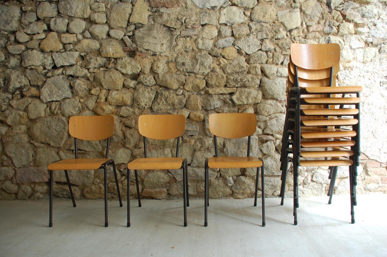Vintage Industral Holz Gebraucht Design Stühle Gastro Metall Zwkpioxlut