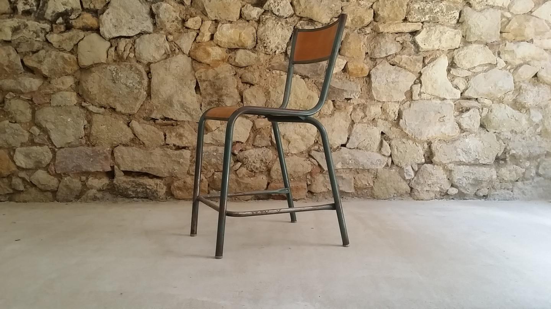 Mullca Französisch 50er Jahre Vintage Loft Klassiker Stahlrohr Rowac Industrial Bar Hocker (1) a