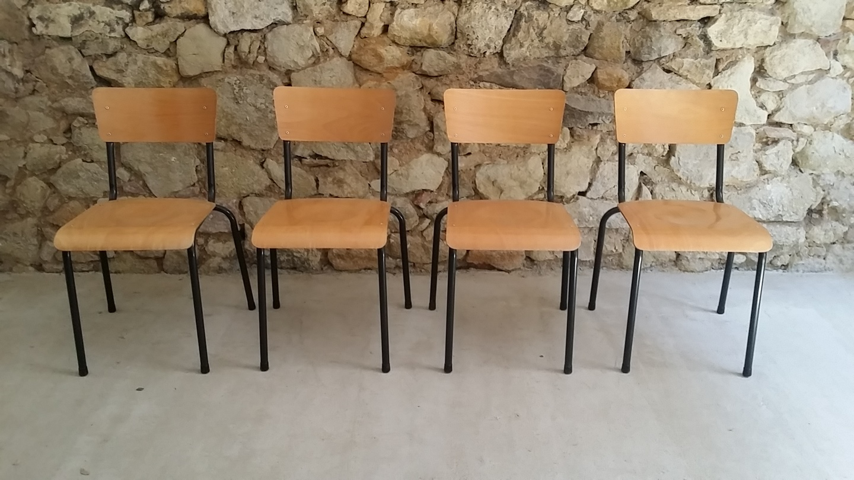 Stühle Stahl Holz Loft Design Klassiker Bauhaus Campus