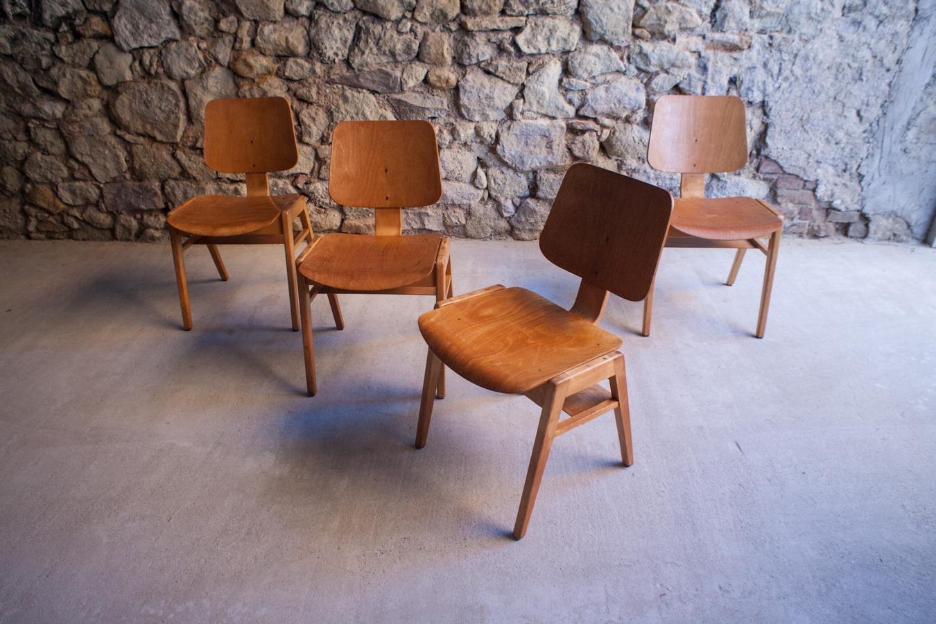 holzst hle mid century modern 1950 1 v 12 design ikonen. Black Bedroom Furniture Sets. Home Design Ideas