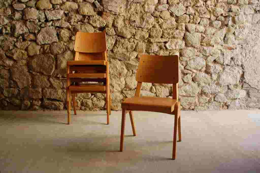 Stuehle Stoelcker Bombenstabil 1930 1950 alt Vintage Chair retro Küchenstuhl (2) 2
