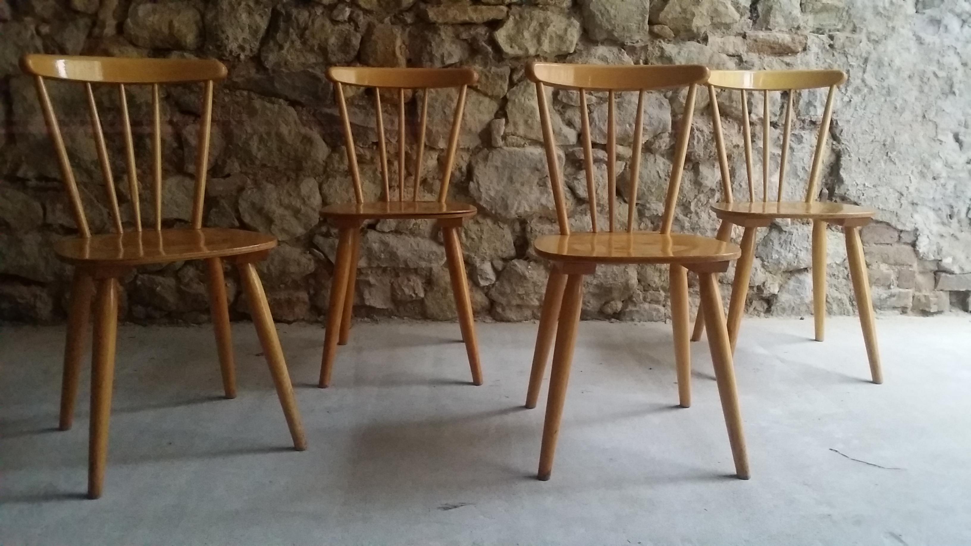 Gebrauchte Hoz Stühle alt Mid Century Modern Used Chair Eames (6)
