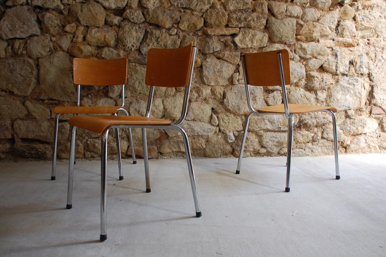 Stahlrohr Loft Industrial Industrie Design Stühle Stapelstuhl gebraucht (3) a