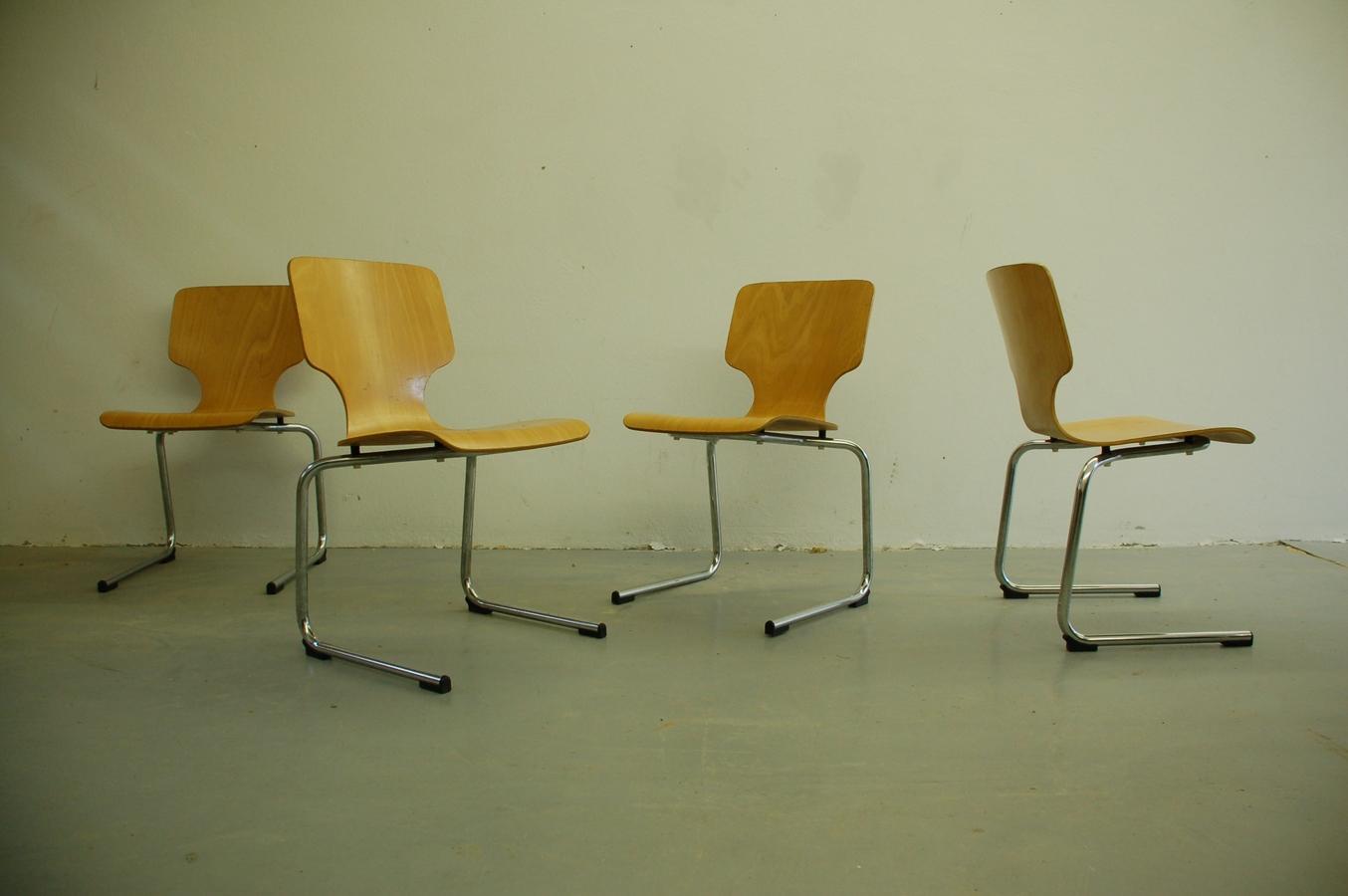 Vintage Freischwinger Stühle Used Chairs Mid Century Modern (1) a