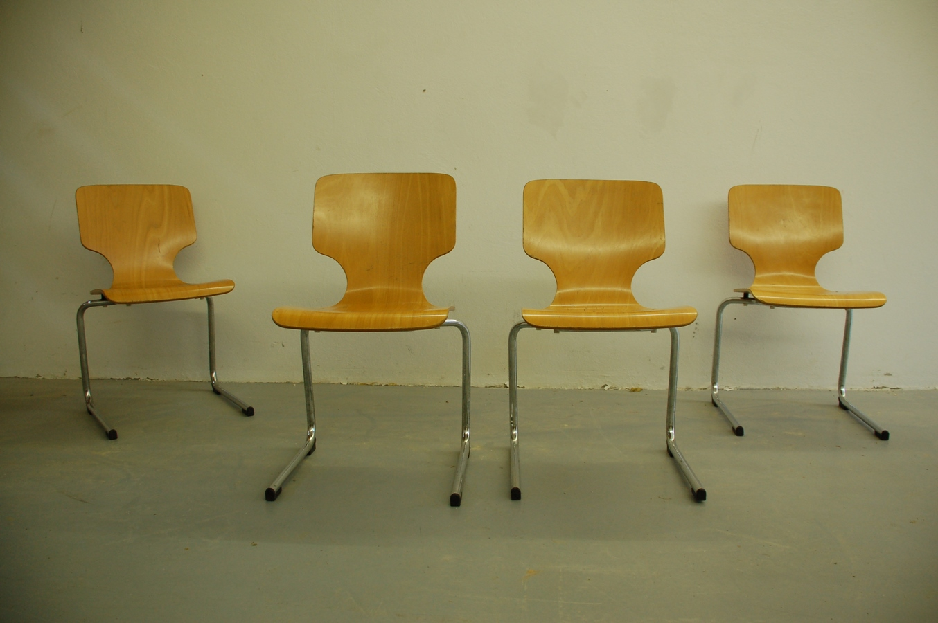 Vintage Freischwinger Stuhle Used Chairs Mid Century Modern 7 A
