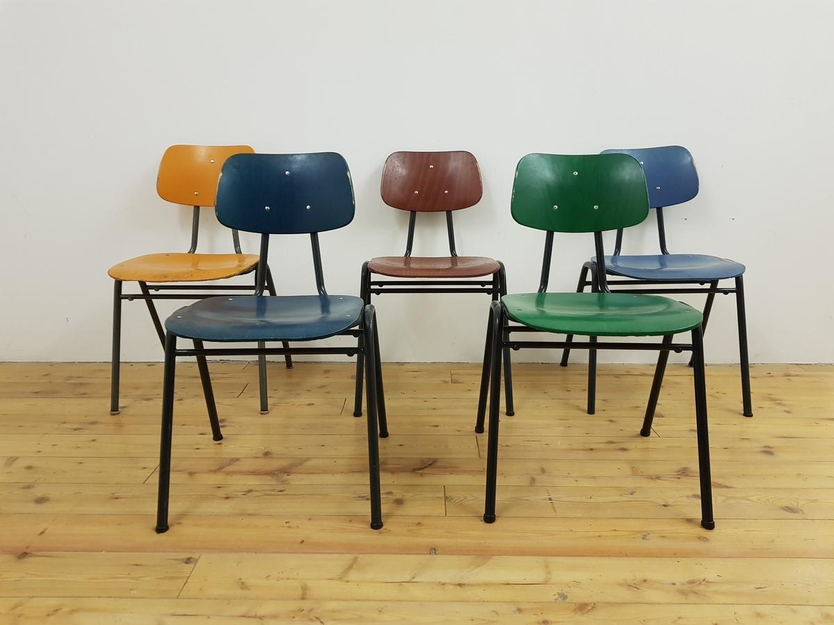 Vintage gebrauchte St?hle Schulst?hle VS Mid Century Bauhaus alt (2)