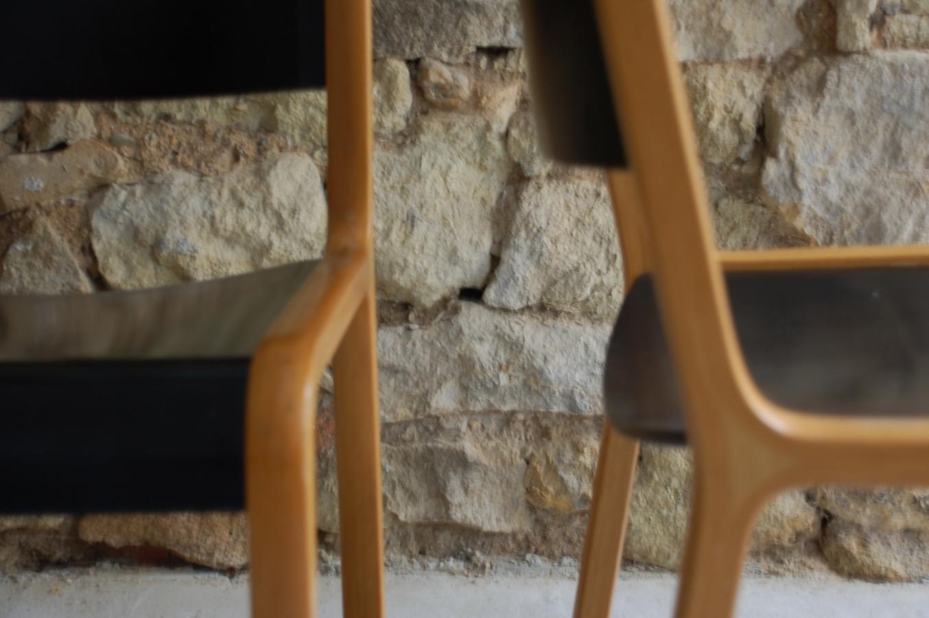 Alte Vintage Holzstühle Im Mid Century Stil Von Wilkhahn