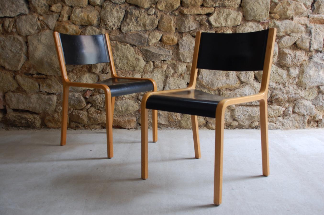 alte vintage holzst hle im mid century stil von wilkhahn 1960 1 v 20 design ikonen. Black Bedroom Furniture Sets. Home Design Ideas