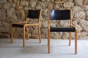 Alte gebrauchte Vintage Esszimmer Holz Stühle Wilkhahn 1960 Mid Century Chair