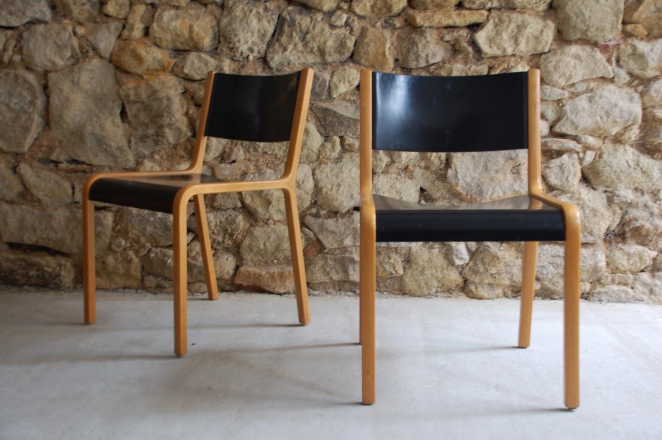 Alte gebrauchte Vintage Esszimmer Holz Stühle Wilkhahn 1960 Mid Century Chair (7) a