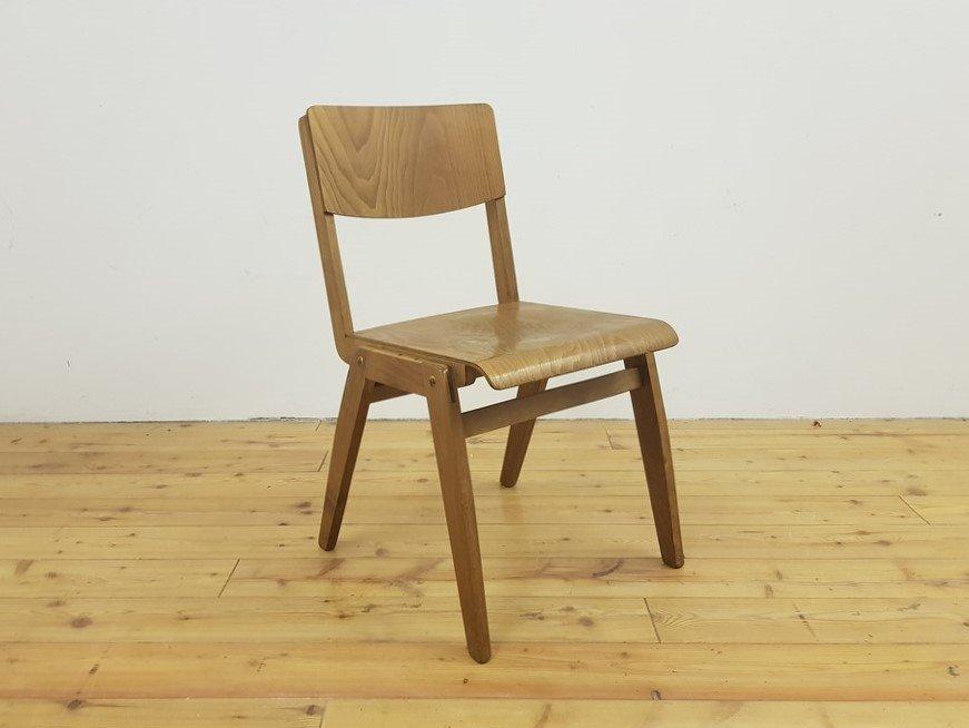 Holz Stapel Stuhl Bauhaus gebraucht vintage alt retro antik Mid-Century 50 60 (3)