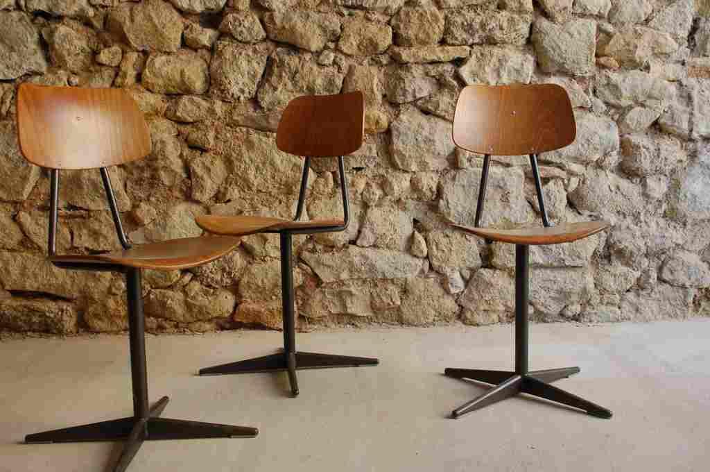 Industrie Design Urban Industrial Vintage Stuhl Stühle Metall Stahlrohr Holz retro gebraucht Werkstatt 2hand (3) 2