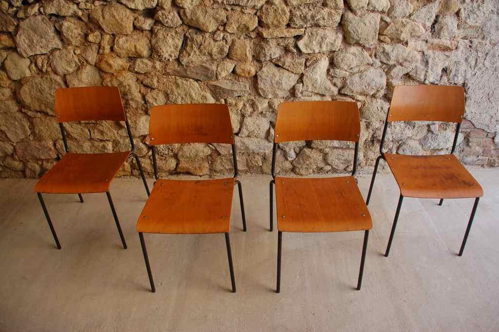 Stühle Küche Esszimmer Holz Stahlrohr 2 Hand Used Vintage Industrie ...
