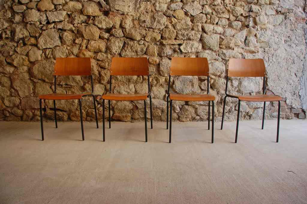 Alte vintage industrial Stühle 1960ies | Design Ikonen