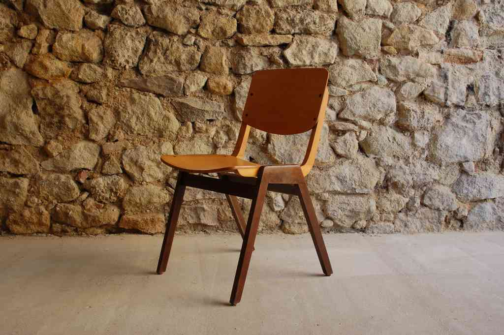 Stuhl Stühle Thonet Vintage Used 2hand gebraucht 1960 Holzstuhl stapelbar alt retro antik Design Klassiker Design Ikonen (3) 2