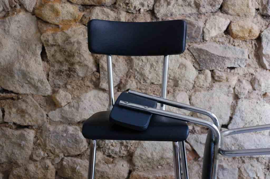 Alte Küchenstühle Retro Vintage Gebraucht Chrom Used Loft Design (11) 2