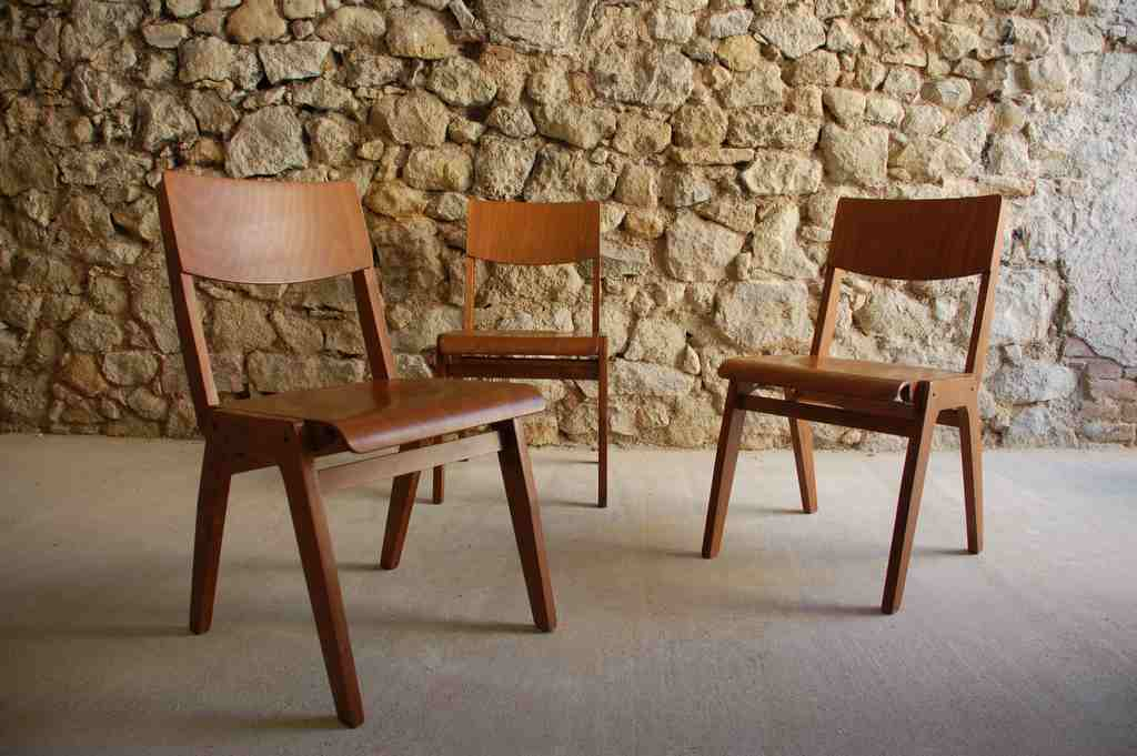 Bauhaus Stuhl Holz Stuhl Cafe Bar Coworking Chair Vintage Retro 2hand Theater Schule (1) 2