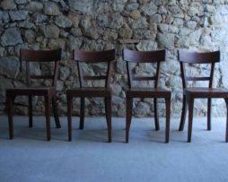 Antik Holzstuhl Stuhl Buche gebraucht dunkel braun