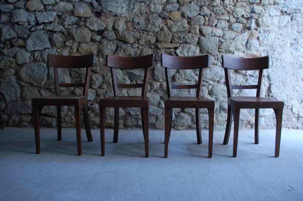 Antik Holzstuhl Stuhl Buche gebraucht dunkel braun (1)