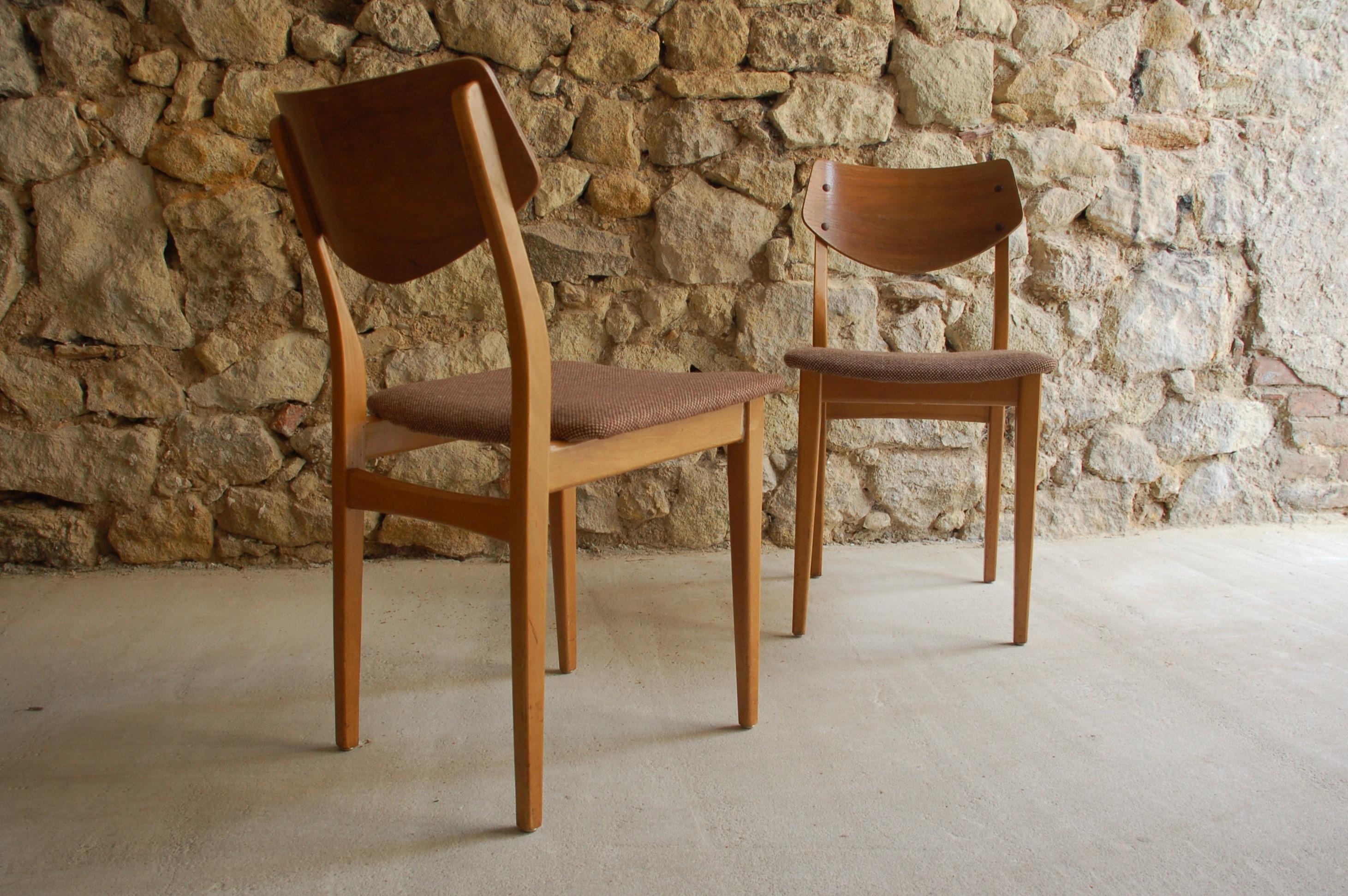 Stühle Chair gebraucht alt Holzstühle Wood Mid Century Modern Polster vintage retro 1950 1960 (12)