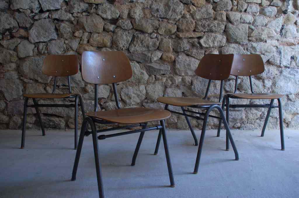 Vintage Schulstühle gebraucht 1960 Industrial Design Mid Modern Retro Vintage (5)