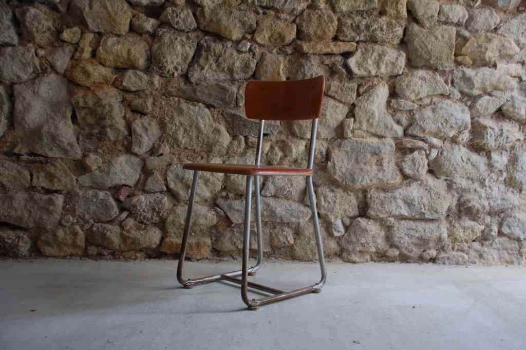 Antik Vintage Retro Stuhl Schulstuhl Hohenloher 1940 1950 (2) 2