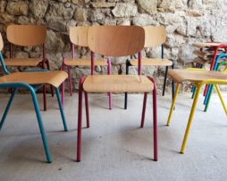 Vintage Stühle Gastronomie 2hand buntes Stahlrohr