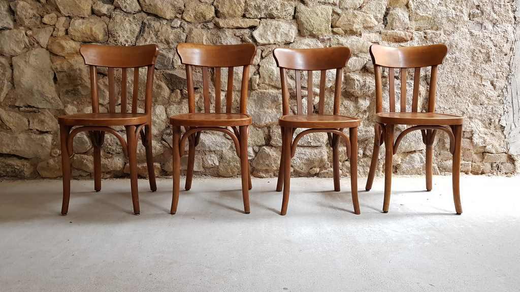 Bistro Stühle Gaststätte Holzstühle Antik Luterma 1920 Buche gebraucht (2)