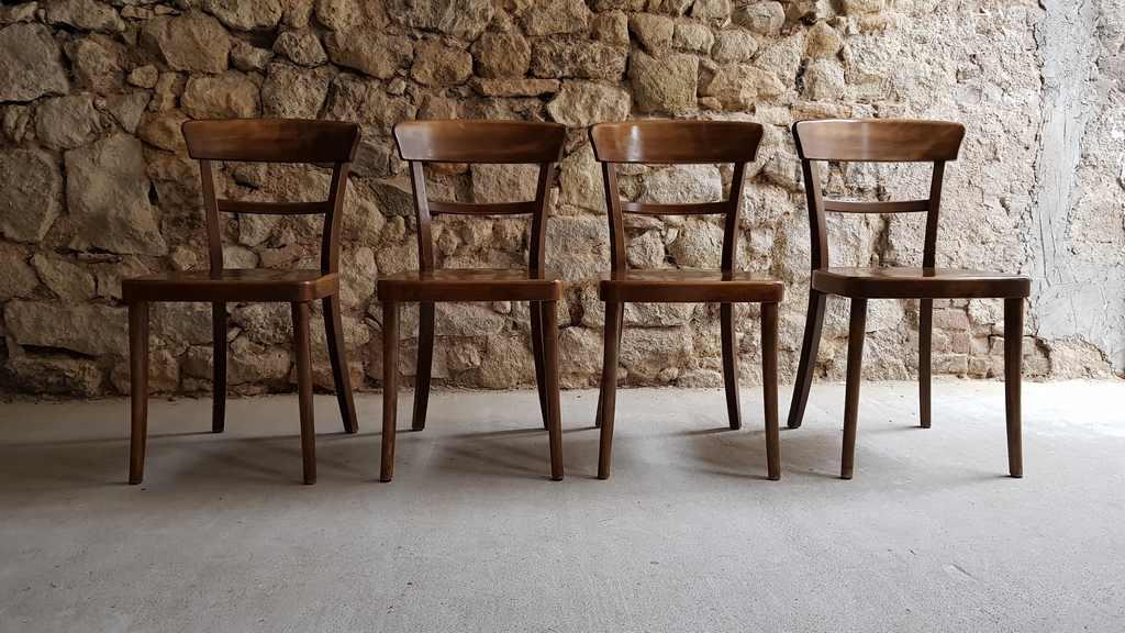 Holzstühle dunkel gebraucht retro vintage (2)
