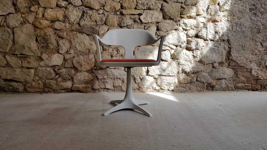 Lübke Sessel 1960 60ies Vintage Mid-Modern Drehstuhl Polster gebraucht (2)