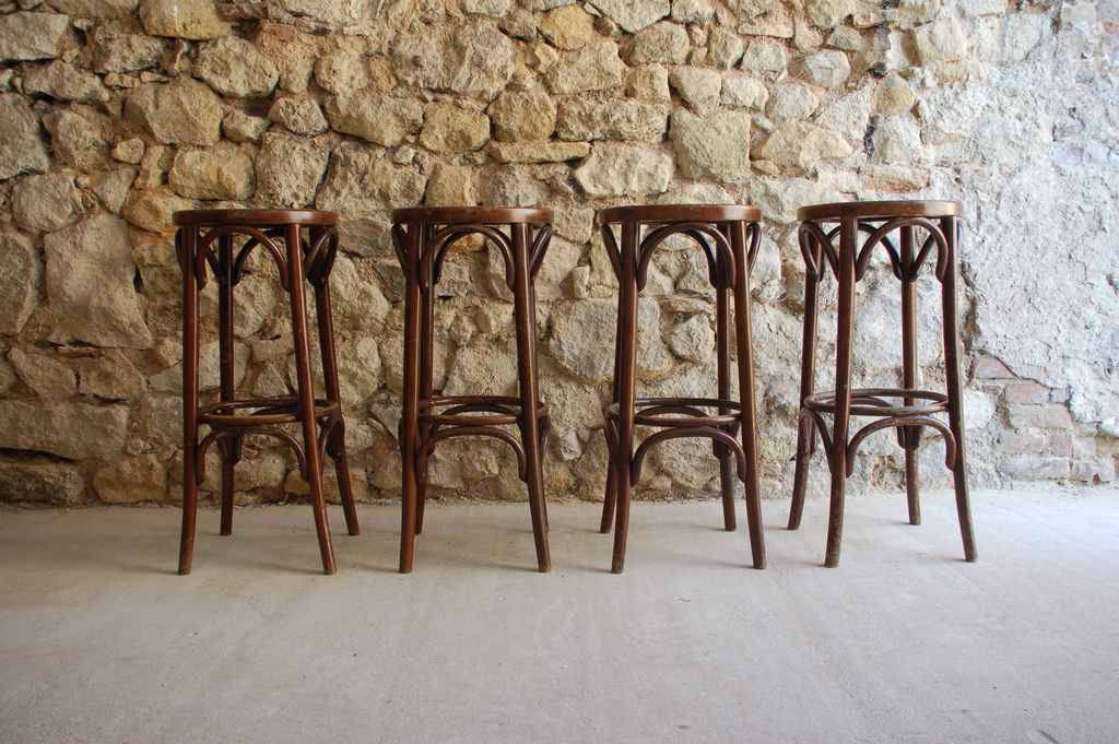 Bistro Stuhl Küchenstuhl Alt Vintage Luterma