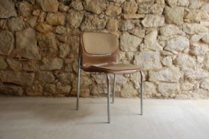 Midcentury Stahlrohr Stuhl Industrial Design Küchenstuhl Werkstattstuhl Katinenstuhl