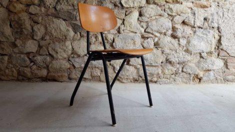 Schulstuhl Vintage Stuhl gebraucht Industrial Design 1950 1960 alt Gastro 2hand