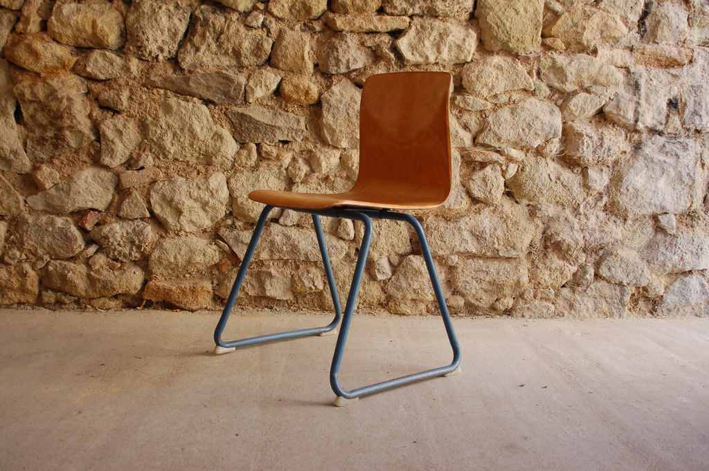 Thur Op Seat Pagholz Stuhl 1970 Vintage Design Ikonen gebrauchte Stühle (2) 2