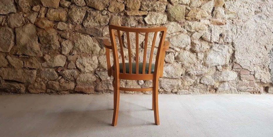 Vintage Holzstuhle Mit Sitzpolster Gebraucht Design Ikonen