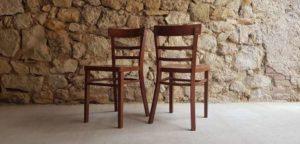 Gebrauchte Gastro Holzstühle braun dunkel retro alt