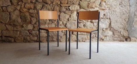 Stühle vintage aus Stahlrohr Holz Büro Wohnzimmer Coworking Gastro 1960 used 2hand Möbel