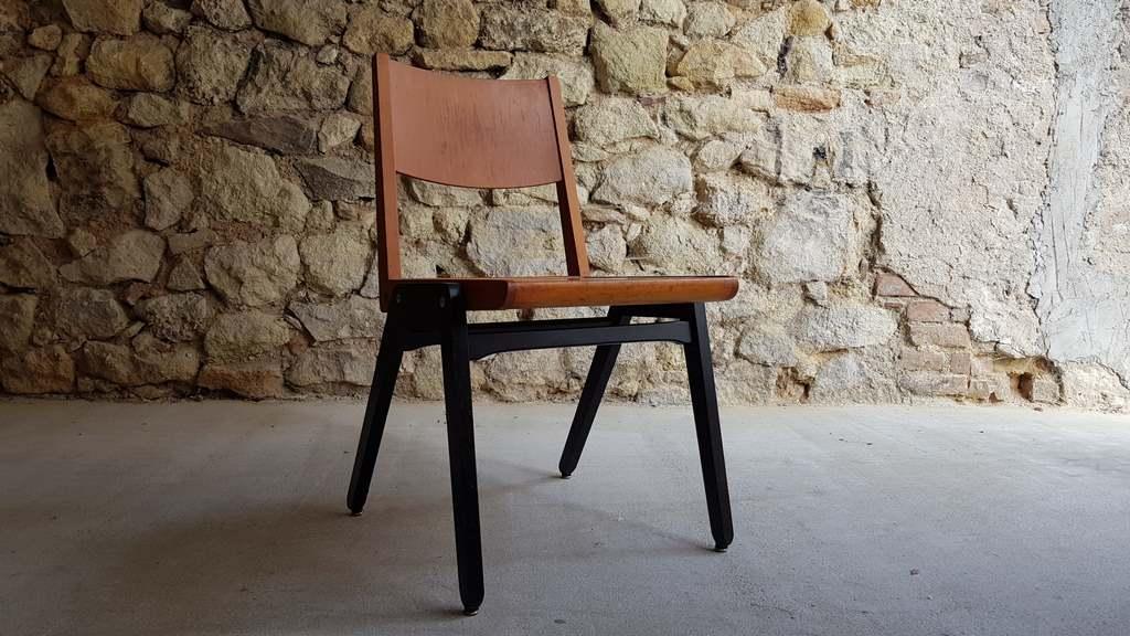 Vintage Stühle Holzstühle gebraucht Lübke alt 2hand Mid century Modern 60er (5)