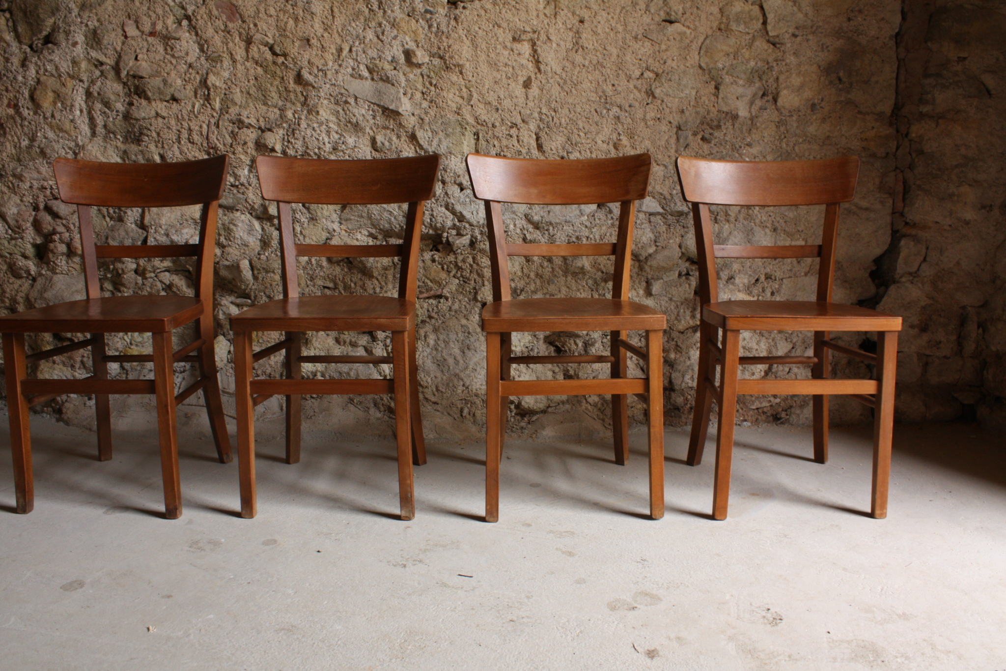 Holz Stühle Antik Art Deco Frankfurter Mid Century