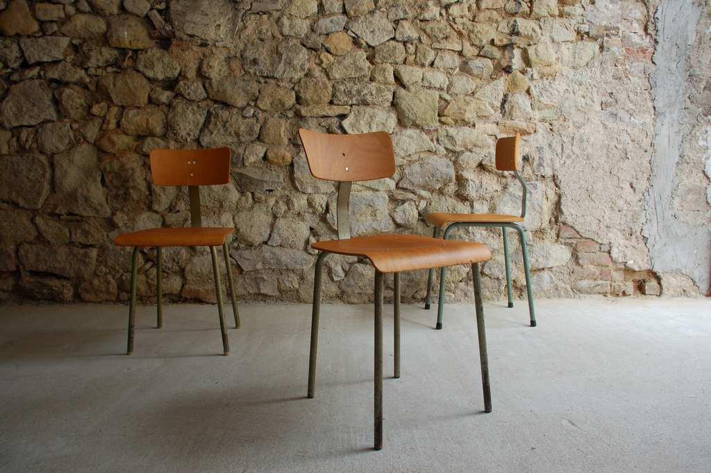 Werkstatt Stuhl Loft Urban Industrial Design Mid Modern Retro Vintage