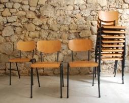 Holz Stühle Metall gebraucht Vintage Gastro Industral Design Klassiker Loft