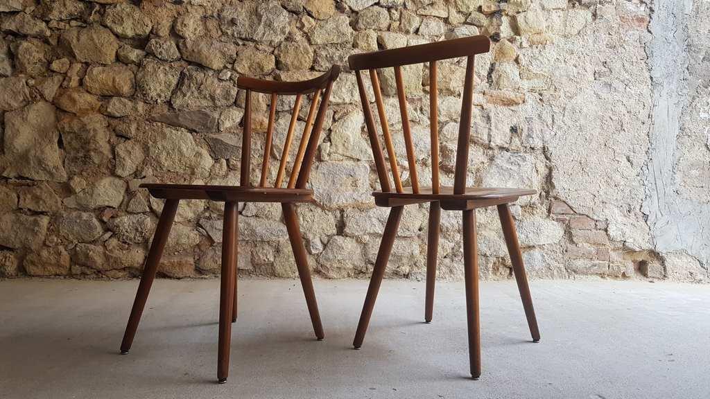 Wilkhahn Designer Stühle Midcentury Modern Holzstühle stapelbar Wohnzimmerstuhl gebraucht 1950